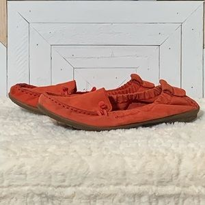 Hush Puppies Moyen Orange Leather Flats